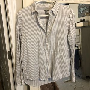 Aerie Button Up Striped Top